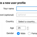 Create a new user profile