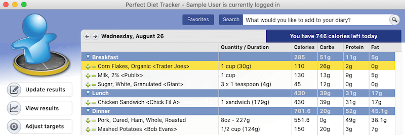Perfect Diet Tracker Food Tracking Diary