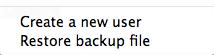 Restoring a backup