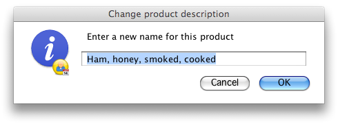 Change a products name